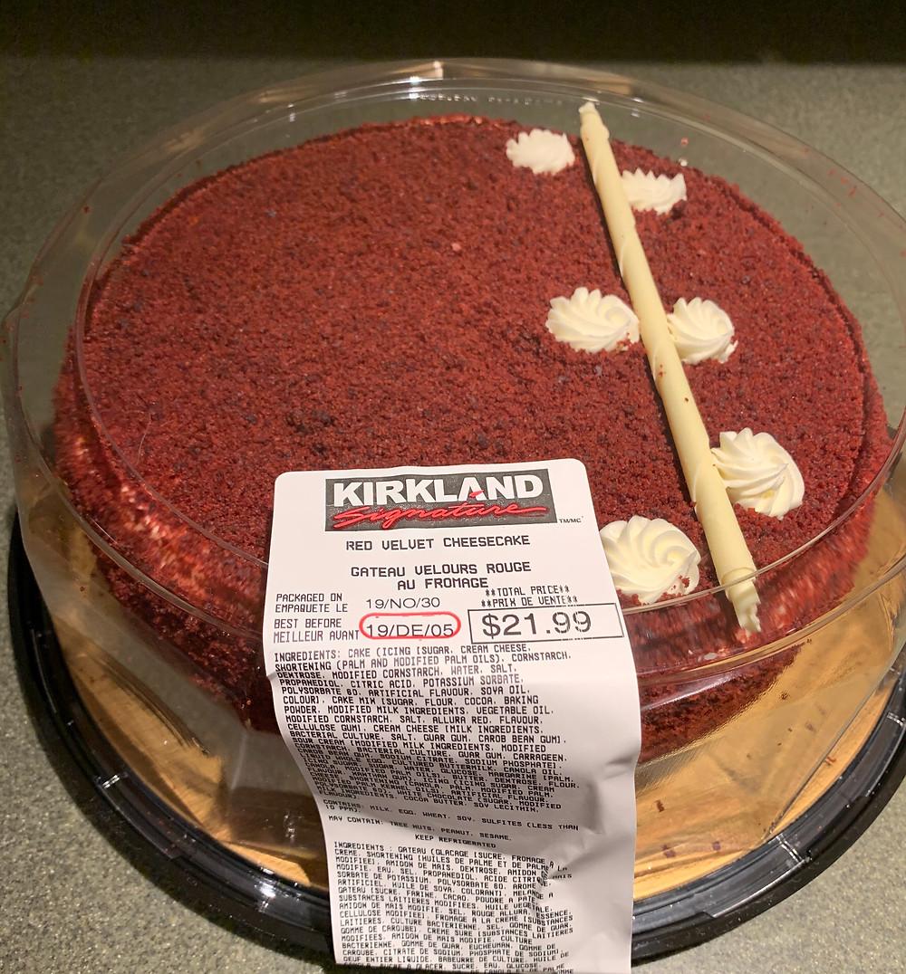 Costco Kirkland Signature Red Velvet Cheesecake