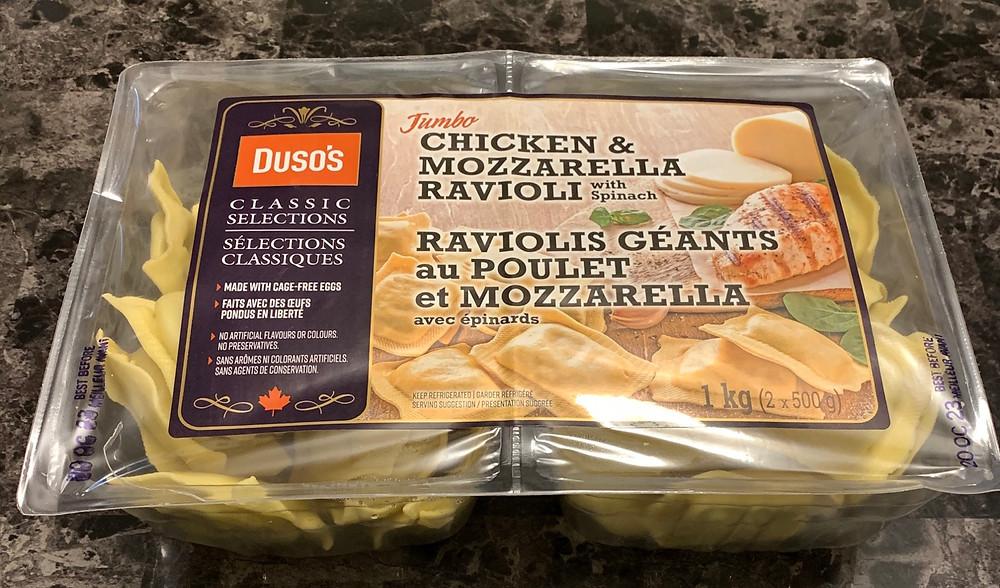 Costco Duso's Jumbo Chicken & Mozzarella Ravioli