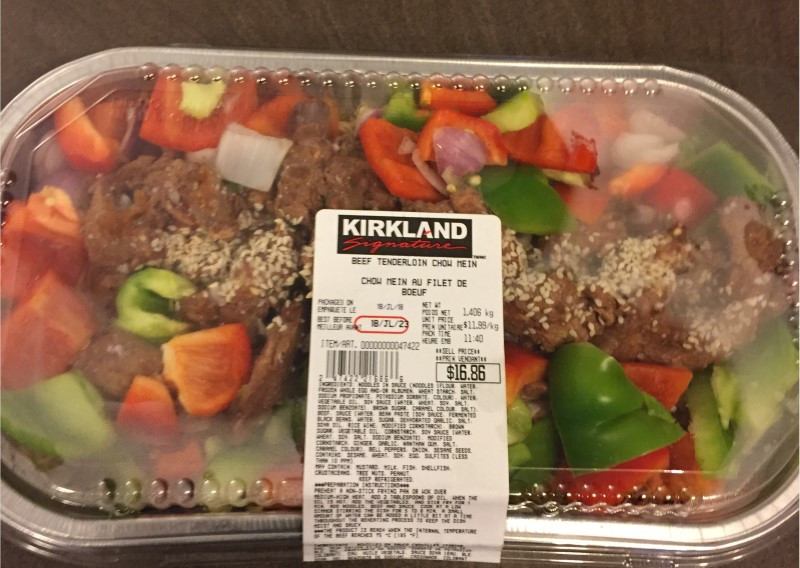 Costco Kirkland Signature Beef Tenderloin Chow Mein