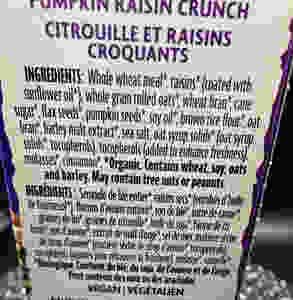 Costco Nature's Path Organic Flax Plus Pumpkin Raisin Crunch Ingredients