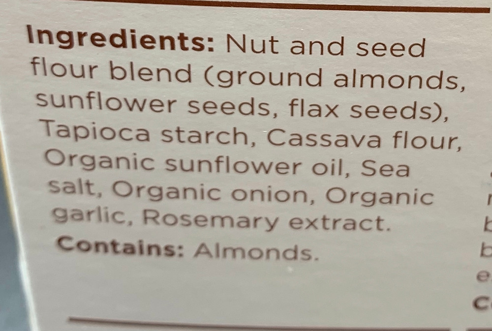Costco Simple Mills Almond Flour Crackers Ingredients