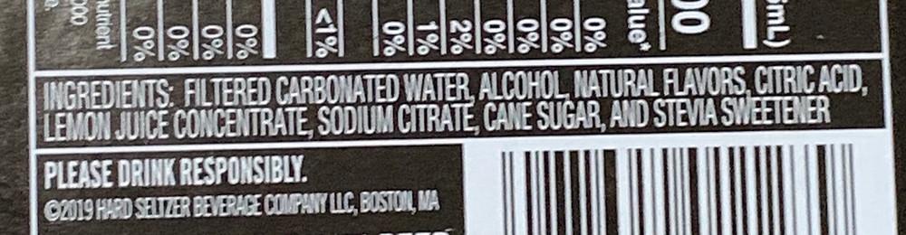 Truly Hard Seltzer Ingredients