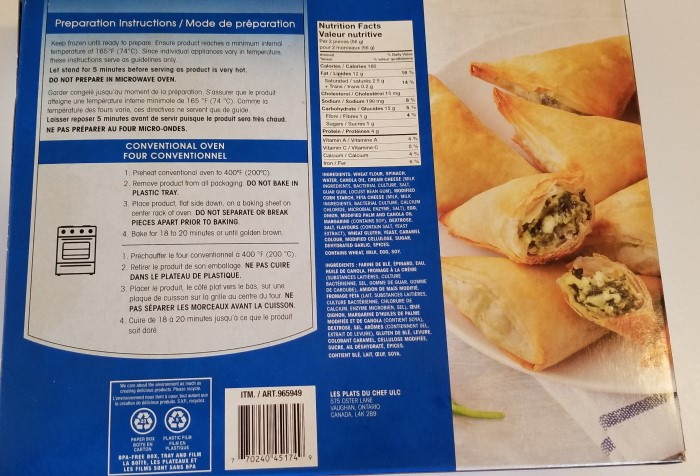 Costco Cuisine Adventures Spanakopita
