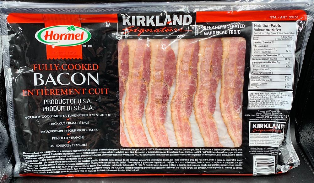 Costco Kirkland Signature Hormel Fully Cooked Bacon