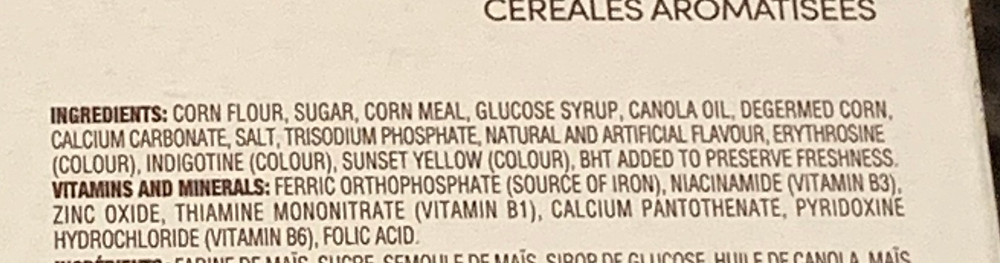 Costco Tim Hortons Timbits Birthday Cake Flavored Cereal Ingredients