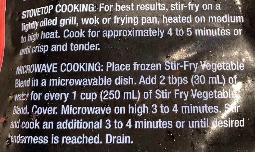 Costco Kirkland Signature Stir Fry Frozen Vegetable Special Blend Directions