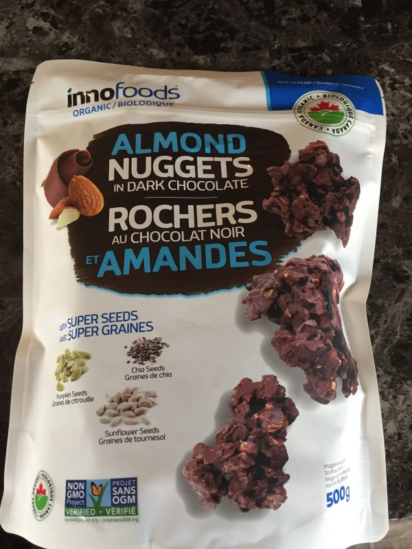 Costco InnoFoods Almond Nuggets in Dark Chocolate
