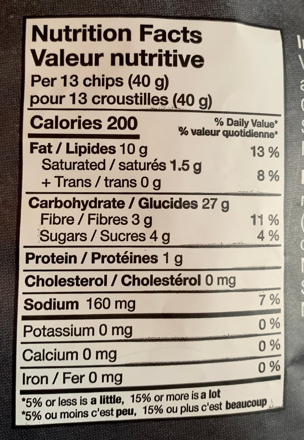 Costco Black's Family Sweet Potato Tortilla Chips Nutrition
