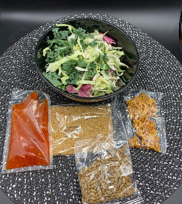 Costco Taylor Farms Thai Style Chili Mango Salad Kit Contents