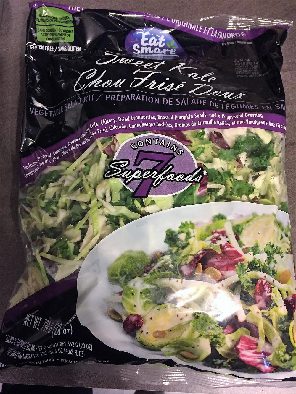 Eat Smart 7 Super Foods Sweet Kale Salad Kit Berry Version