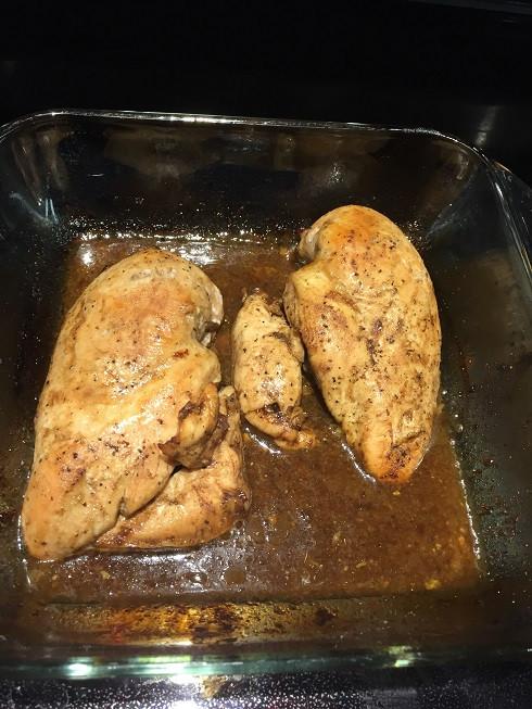 Maple Balsamic Chicken Using Costco Kirkland Signature Boneless Skinless Chicken Breasts, Kirkland Signature Extra Virgin Olive Oil, Kirkland Signature Balsamic Vinegar & Kirkland Signature Maple Syrup