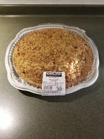 Costco Kirkland Signature Apple Crumble Pie
