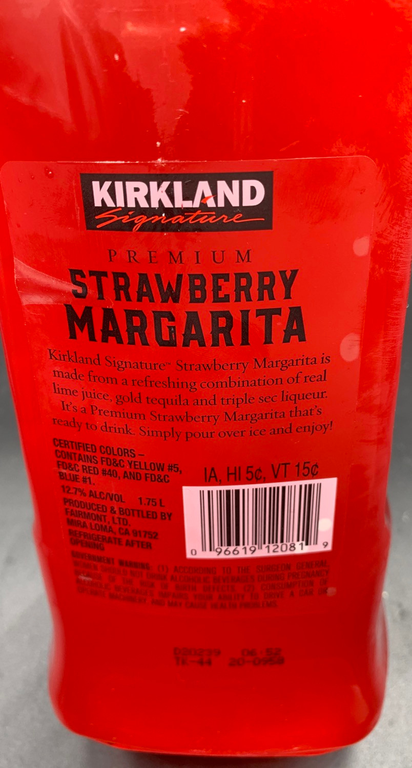 Costco Kirkland Signature Strawberry Margarita