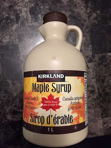 Kirkland Signature Maple Syrup from Costco