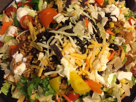Taco Salad Recipe Using Costco Baja Chopped Salad Kit and Costco Kirkland Ground Turkey