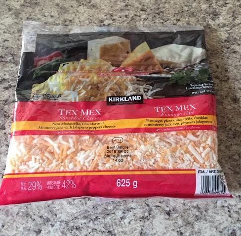 Costco Kirkland Signature Tex Mex Shredded Cheese