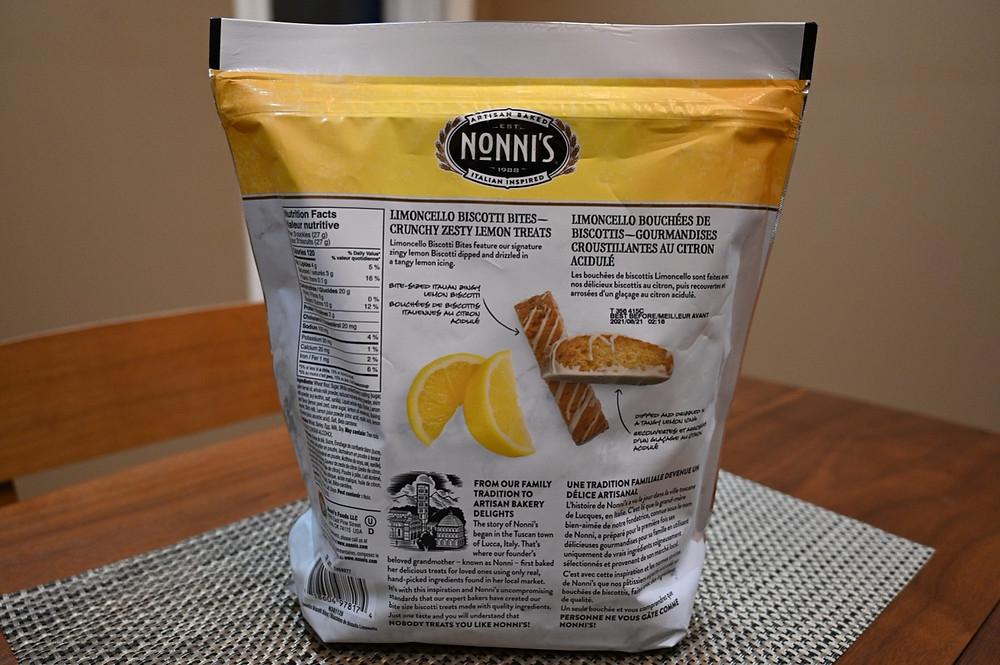Costco Nonni's Limoncello Biscotti Bites
