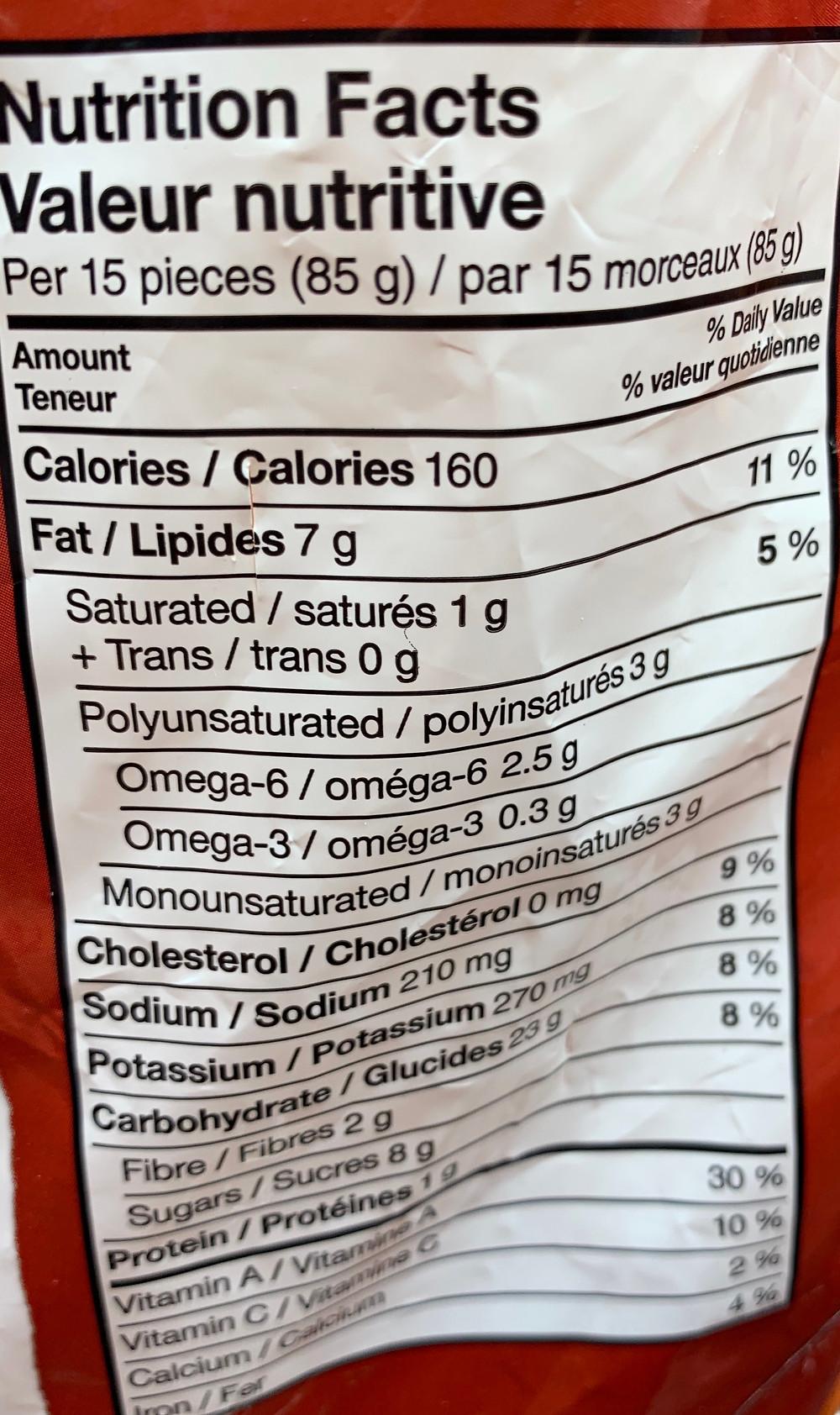 Costco McCain Sweet Potato Superfries Nutrition