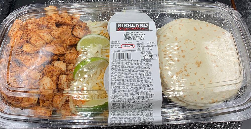 Costco Kirkland Signature Chicken Tacos