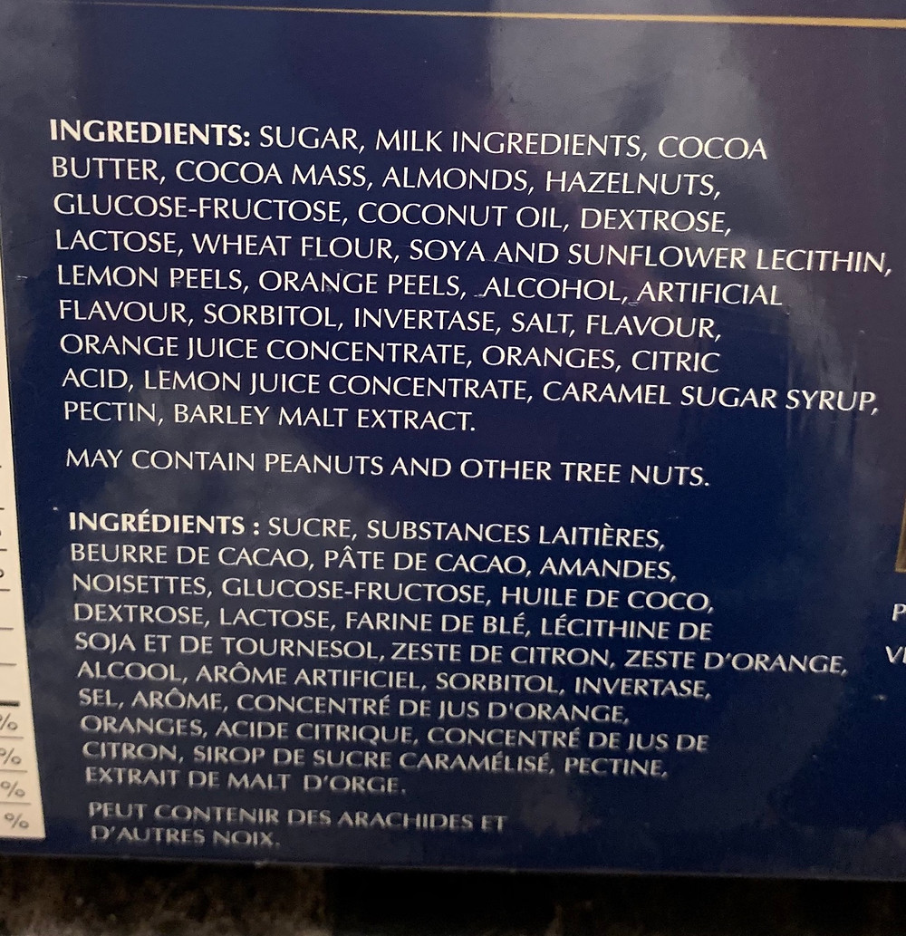 Costco Lindt Pralines Ingredients