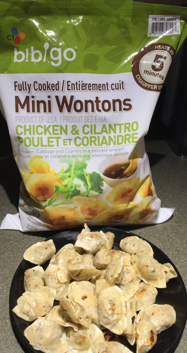 Costco Bibigo Chicken and Cilantro Mini Wontons