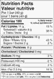 Hungry Buddha Coconut Cocoa Keto Bar Nutrition