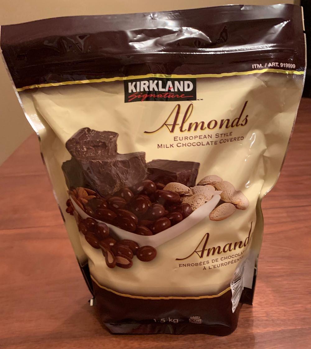 Costco Kirkland Signature Chocolate Covered Almonds