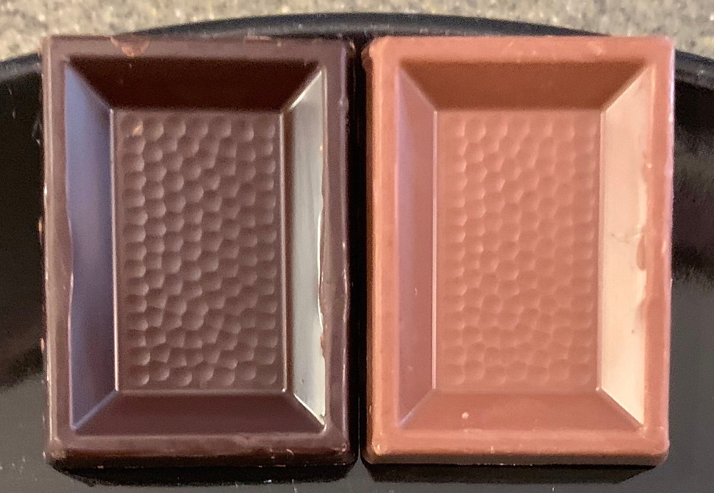 Costco Swiss Delice Petits Suisses Extra Dark Chocolate and Extra Creamy Milk Chocolate With A Hint Of Ground Hazelnut