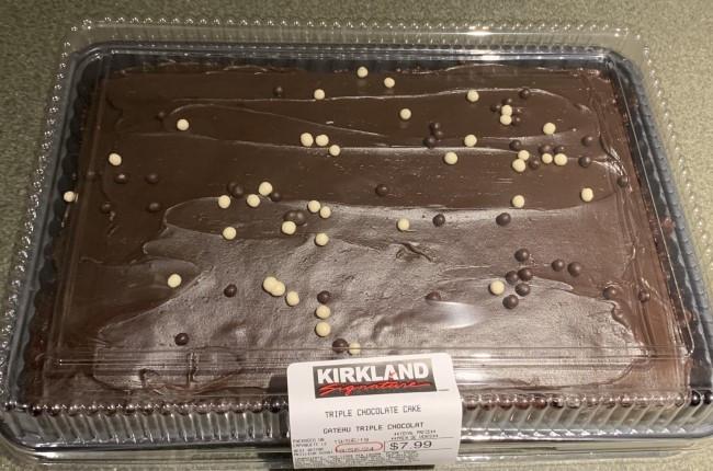 Costco Kirkland Signature Triple Chocolate Cake