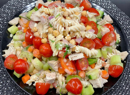 Veggie Costco Mediterranean Pasta Salad Recipe!