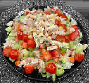 Veggie Heavy Mediterranean Pasta Salad!