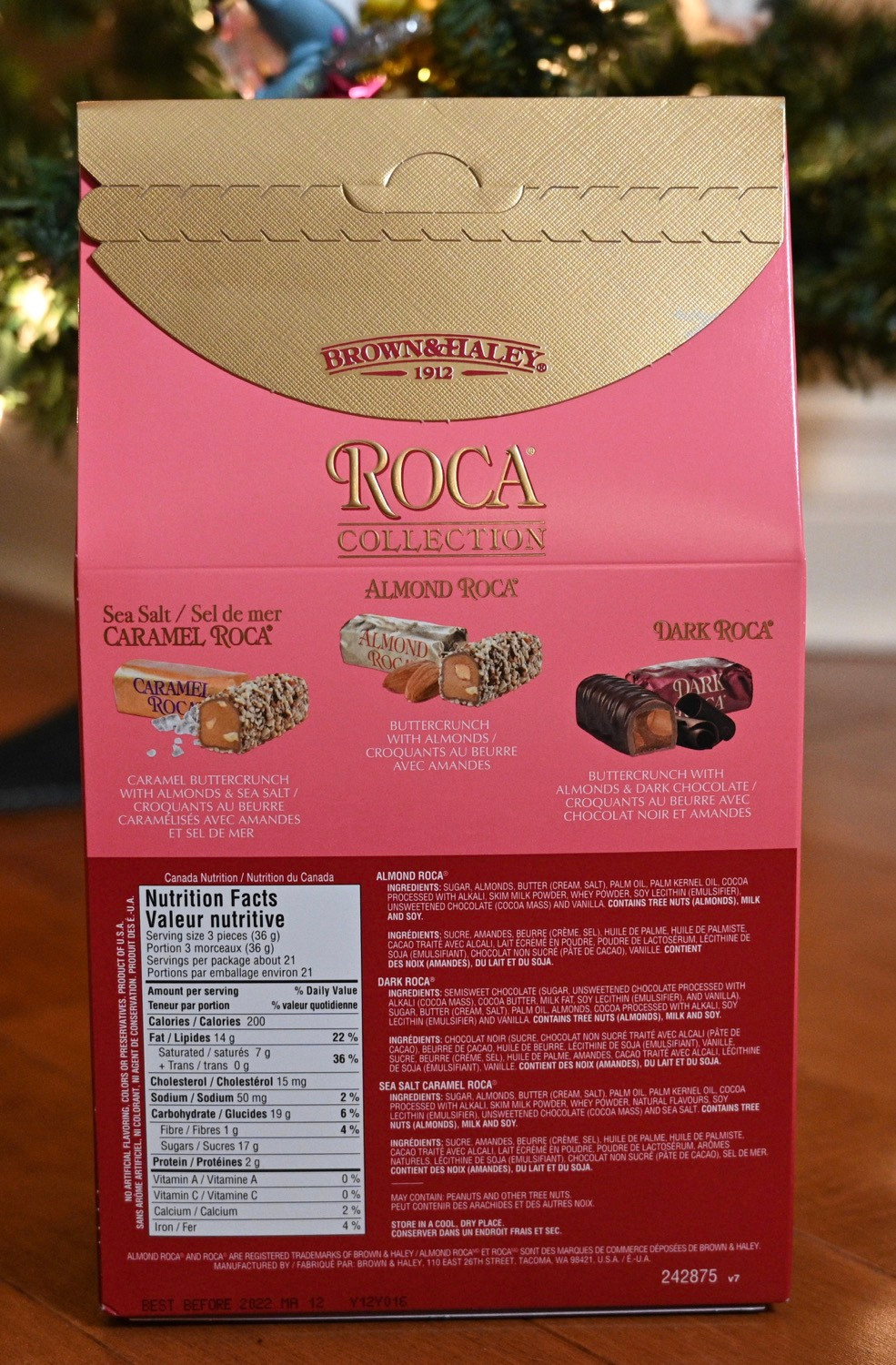 Costco Almond Roca Collection Nutrition & Ingredients
