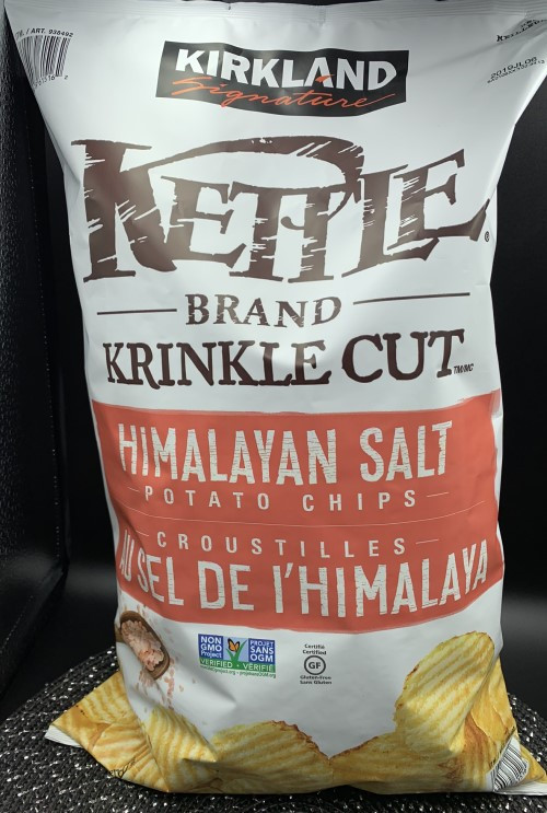 Costco Kirkland Signature Kettle Brand Krinkle Cut Himalayan Salt Potato Chips