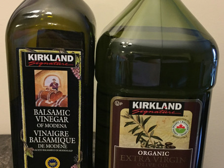 Costco Kirkland Balsamic Vinegar and Olive Oil