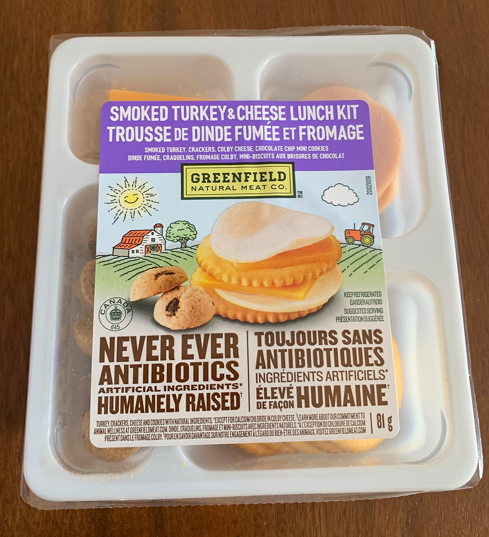 Costco Greenfield Natural Meat Co Smoked Turkey & Cheese Lunch Kit