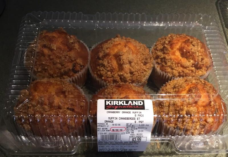 Costco Kirkland Signature Cranberry Orange Muffin