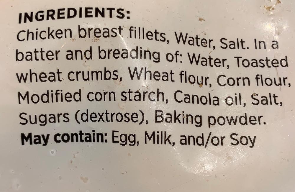 Costco Hampton House Chicken Strips Ingredients