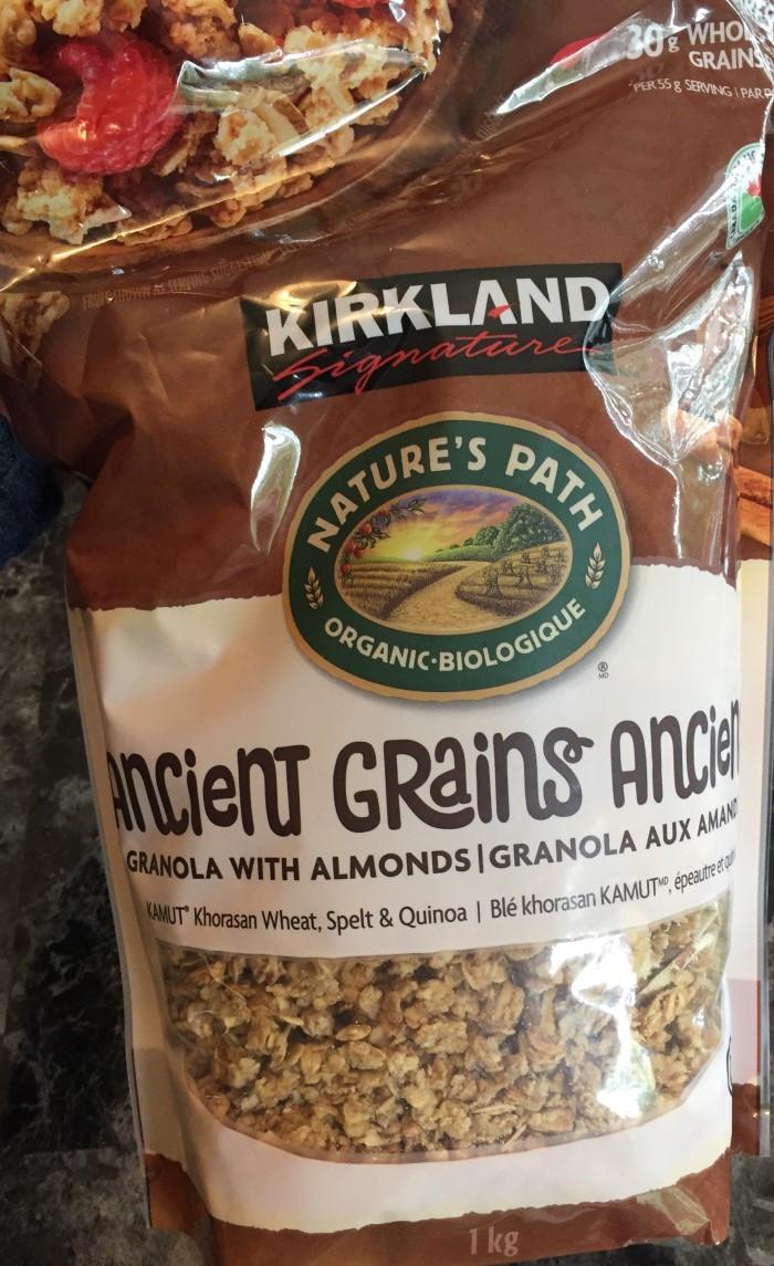 Costco Kirkland Signature Ancient Grains Granola by Nature's Path