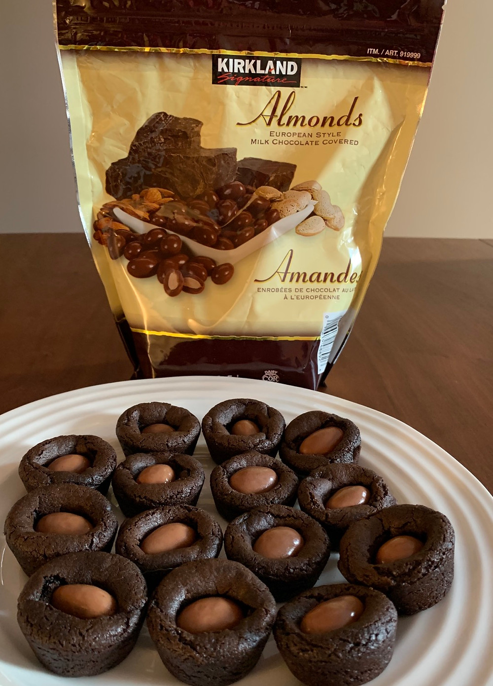 Costco Milk Chocolate Covered Almond Brownie Cookie