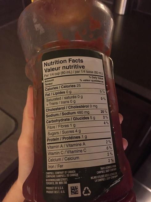 Costco Pace Salsa Nutrition