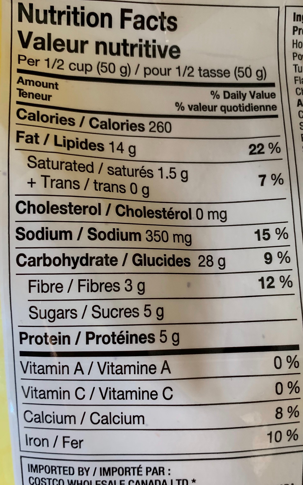 Costco Kirkland Signature Honey Mustard Snack Mix Nutrition