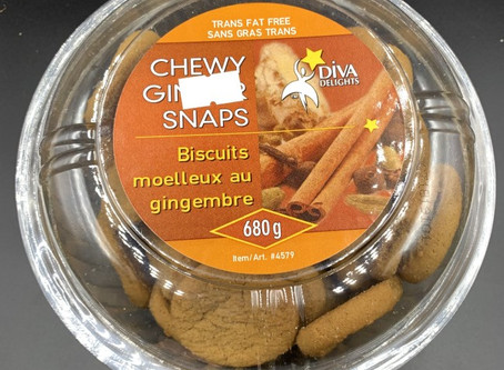 Costco Diva Delights Chewy Ginger Snaps Review
