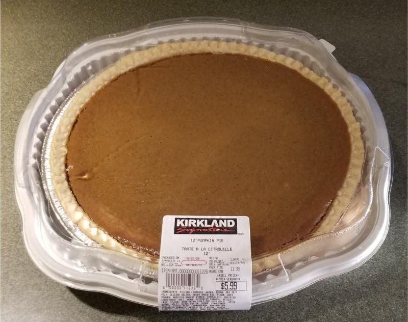Costco Kirkland Signature Pumpkin Pie