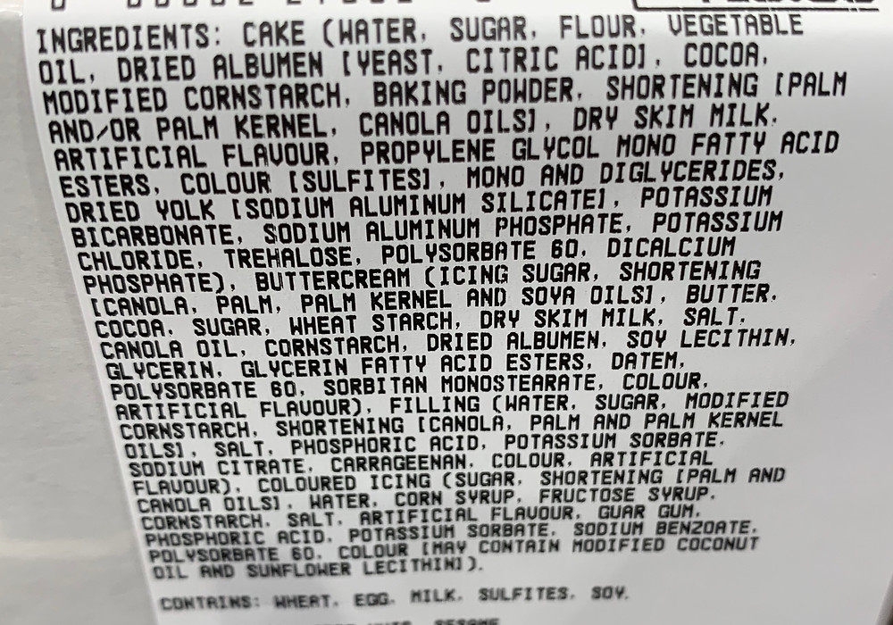 Costco Kirkland Signature Chocolate Cake Ingredients