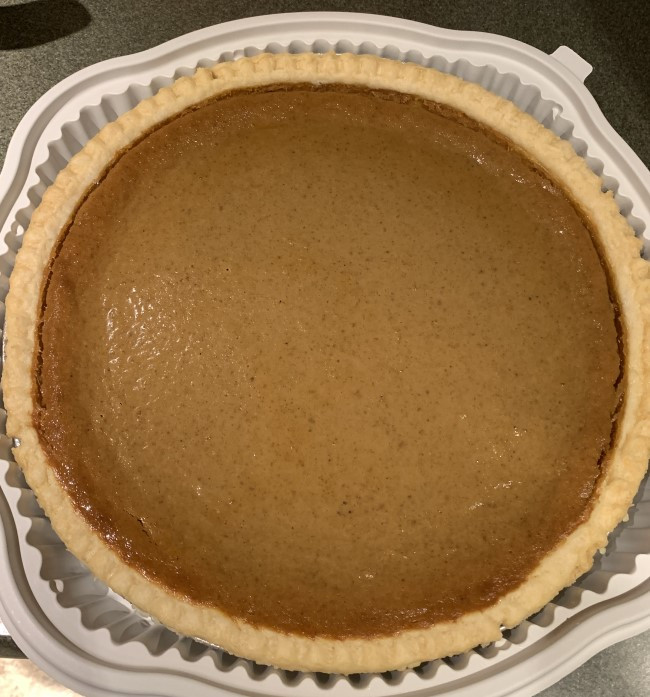 Moisture on Costco Kirkland Signature Pumpkin Pie
