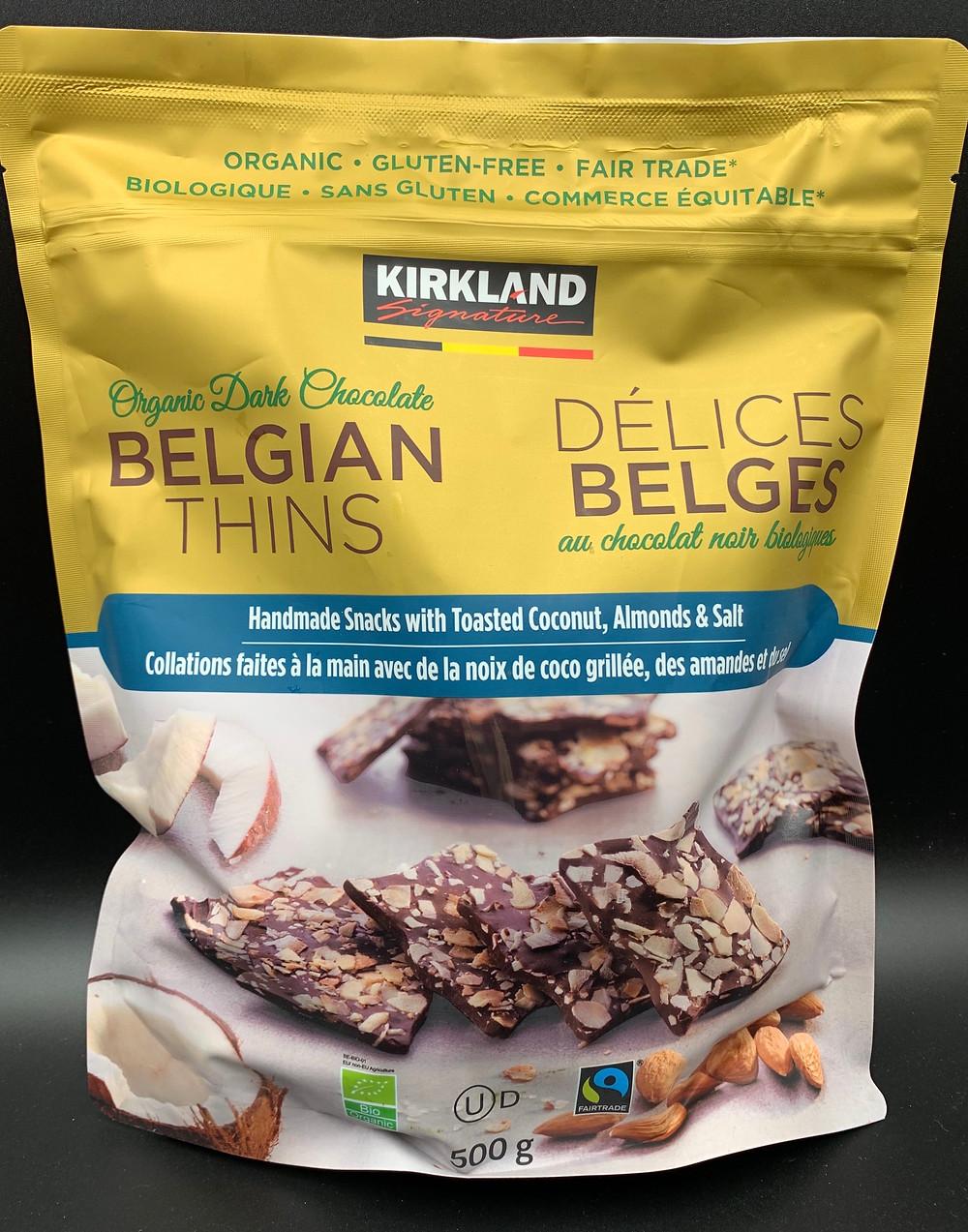 Costco Kirkland Signature Organic Dark Chocolate Belgian Thins