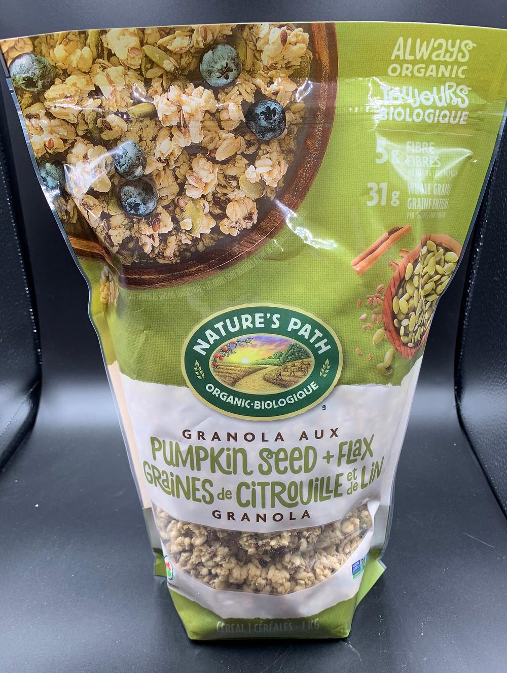 Costco Nature's Path Organic Pumpkin Seed and Flax Granola