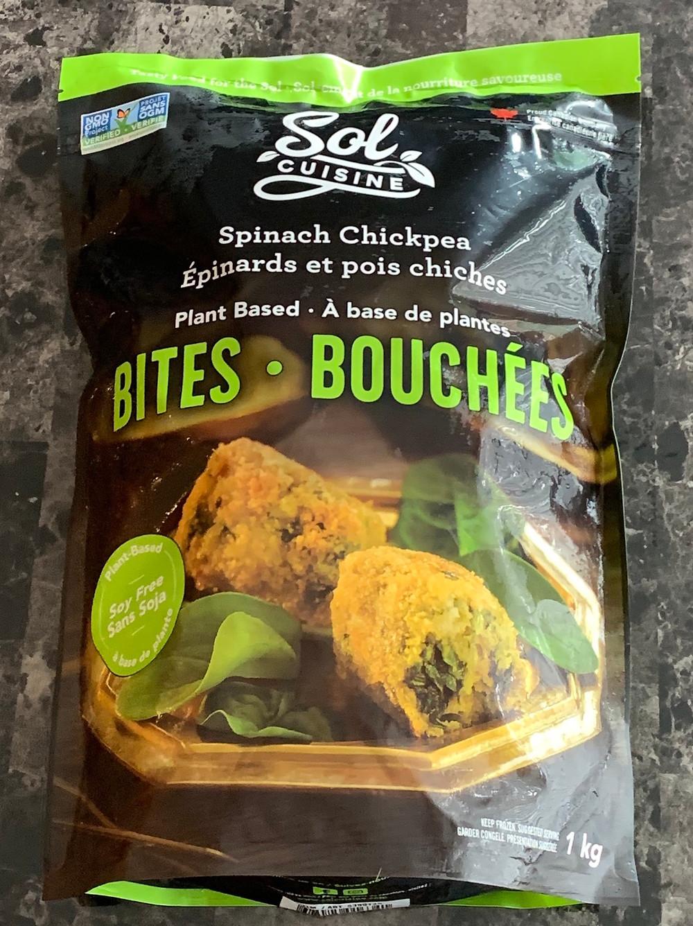 Sol Cuisine Spinach Chickpea Bites