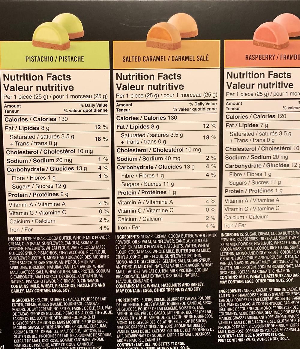 Costco Truffettes De France Chocolate Truffles Nutrition