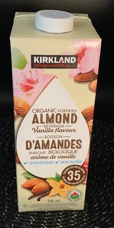 Costco Kirkland Signature ORGANIC Vanilla Almond Milk